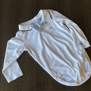 Janie & Jack Pelican Collard Shirt sz 12-18 mo